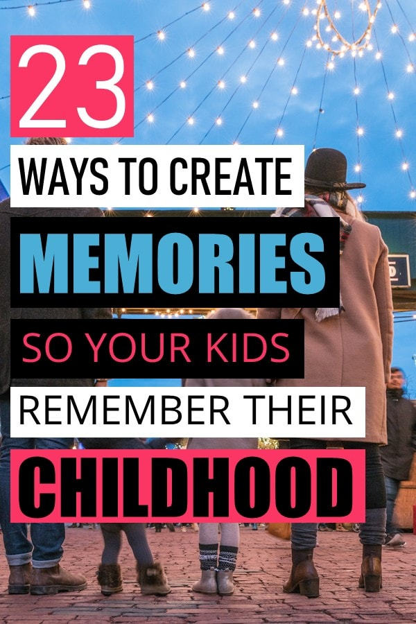 Between the endless chores, complex schedules, work, and school, it is hard to create space for quality time with your kids. Here are creative ways you can be intentional in creating memories that your children will cherish for years to come. How to create memories for your children. Activities that your child will remember. How to help your children have a memorable childhood. #parenting #motherhood #kids