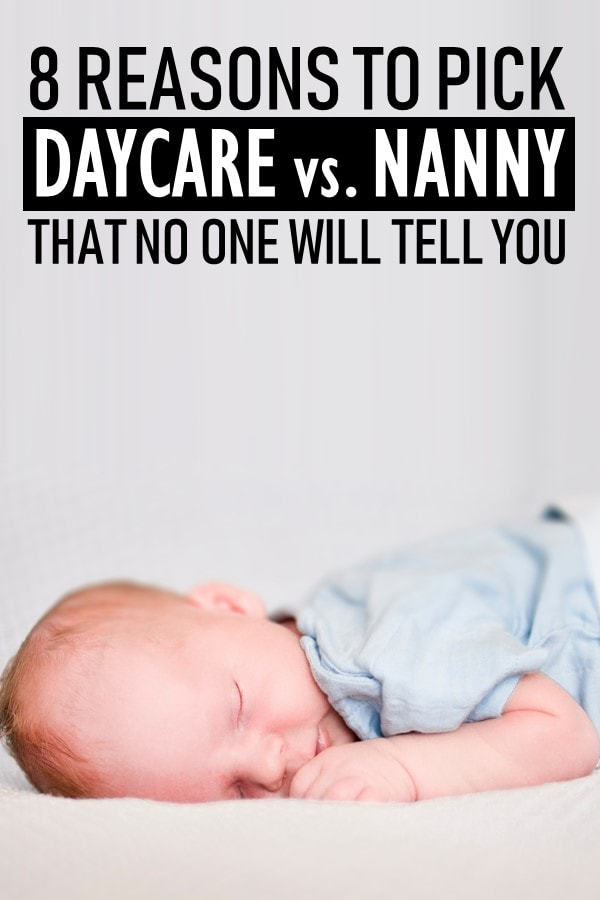 Deciding on care for your child is a very big decision as the stakes are high since there is no way for your baby to tell you what is going on. It is also a huge decision because your caregiver will shape your child's development. There are endless pros and cons to staying at home vs. daycare vs. nanny. After going through the process, we decided on a mix of daycare and staying at home. Here are the reasons I would pick a daycare over a nanny any day. #parenting #childcare #motherhood