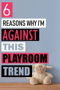 A toddler playroom should not be minimalist. Here is why you should embrace having a messy playroom. Instead, your playroom should inspire imagination and get your children used to living in a messy world. Toddler playroom ideas. Playroom organization. How to organize your kid's playroom. How to teach kids to clean up their toys. #parenthood #motherhood #playroom #parenting
