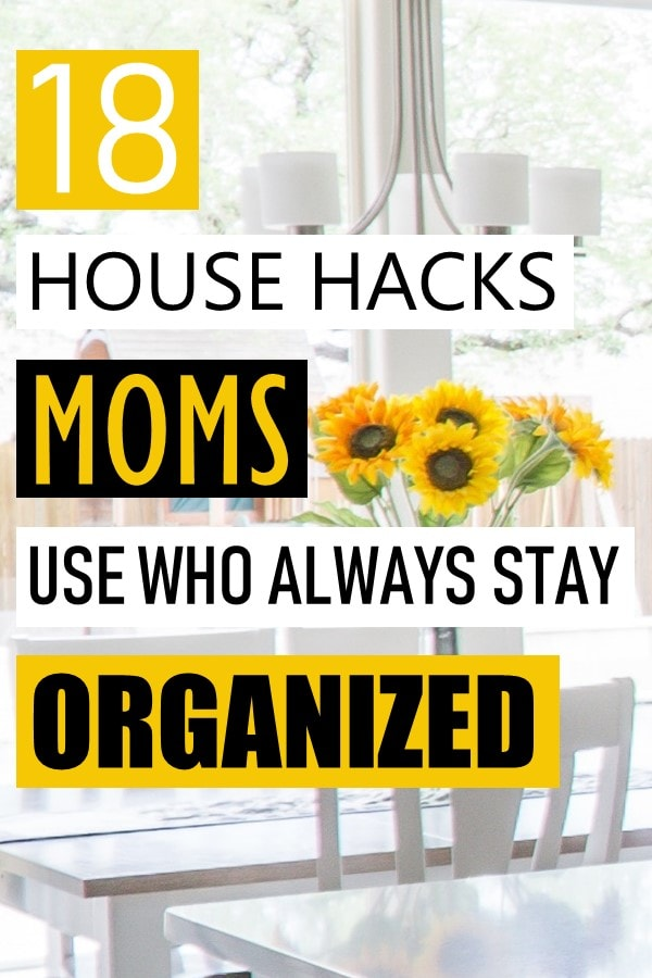 Best organizational hacks of moms who have their sh*t together. Using tools like organizers and baskets can go a long way to keeping everything tidy. And don't forget the power of built-ins to maximize and really use all closet space. Lastly, free yourself of all the paper by going paperless with a digital organizational system. #momhacks #organizationhacks #momlife #momtips